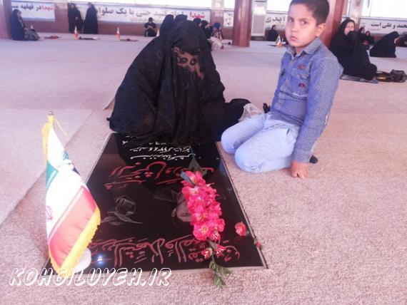 رروز پدر در مزار شهدا دهدشت؛ جاي خيليها خالي + تصاویر/پایگاه خبری کهگیلویه