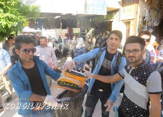 راقدام جالب شهروندان دهدشتی به مناسبت روز زمین پاک/پایگاه خبری کهگیلویه