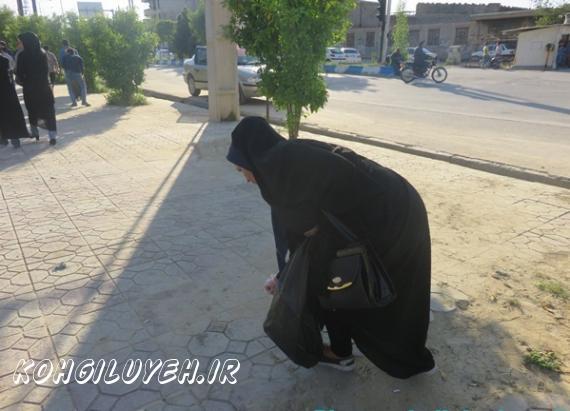 اقدام جالب شهروندان دهدشتی به مناسبت روز زمین پاک/پایگاه خبری کهگیلویه